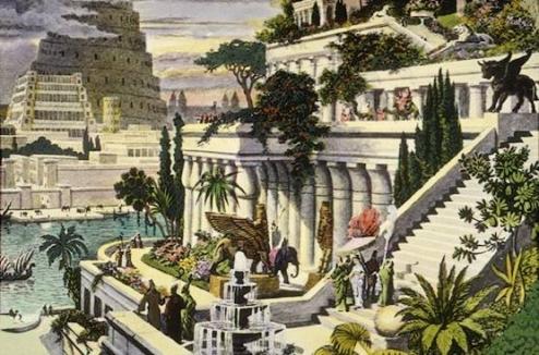 jardins suspendus et tour de babel
